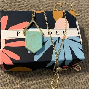 Plunder turquoise and Gold necklace
